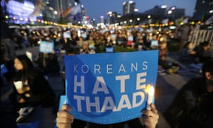 South Korean protesters make their feelings clear outside the US embassy in Seoul on Saturday