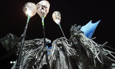 Performers at Europe's largest Halloween Carnival in Derry.