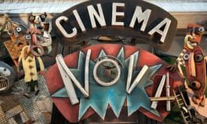 Sign for the Cinema Nova, Brussels