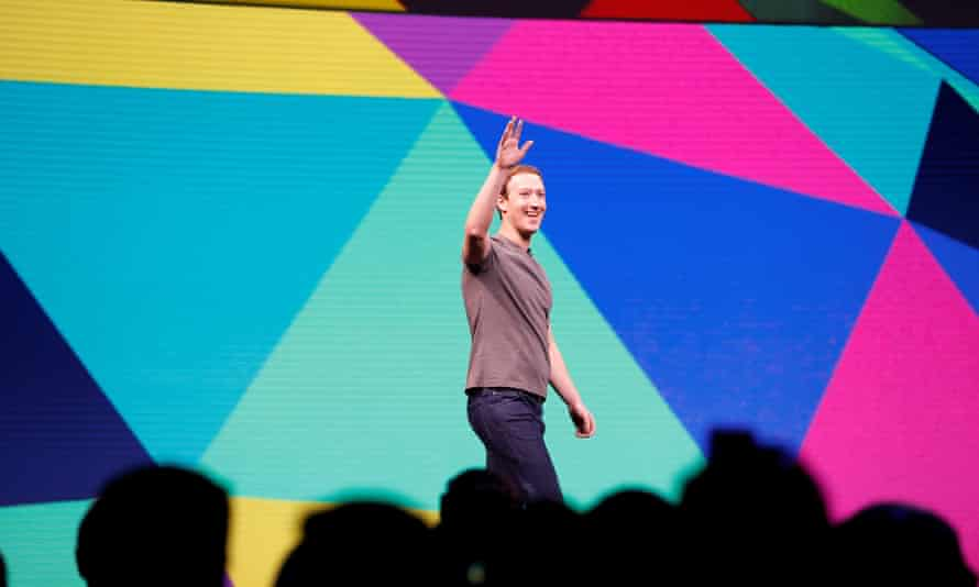 Mark Zuckerberg at the annual Facebook F8 developers' conference in San Jose in April.