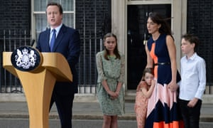 David Cameron announces his departure from Downing Street after losing the EU referendum in June.