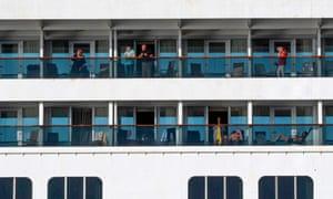 The Zaandam cruise ship has been allowed to pass through the Panama canal.
