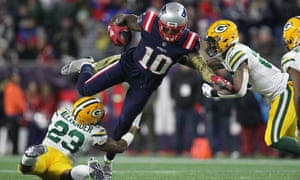 Brady's new target, wide receiver Josh Gordon, has scored two touchdowns since arriving from Cleveland.