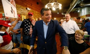 Ted Cruz meets and talks to the public at Hickory Roots BBQ in Terrell, Texas.