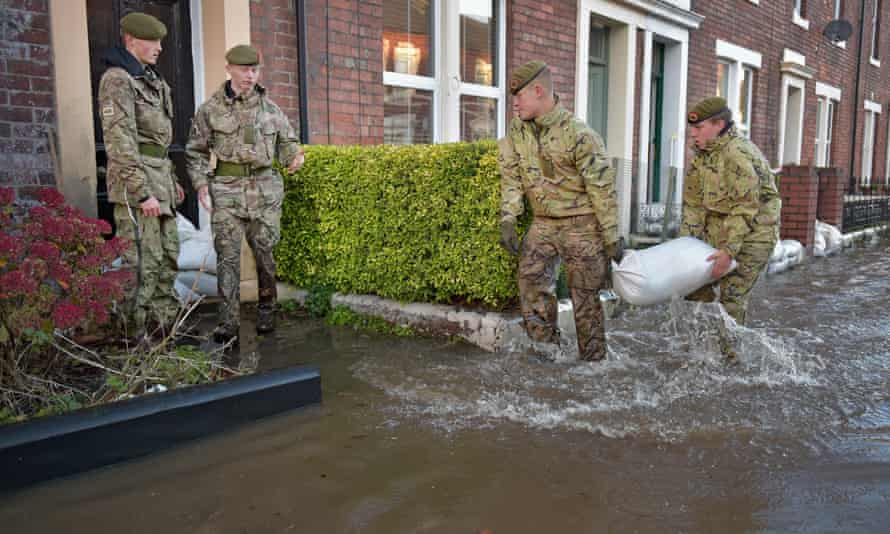 Army help with the rescue effort in Carlisle