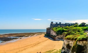Kingsgate castle, and beach