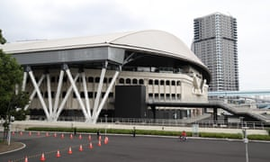 The exterior of Centre Court is seen at Ariake Tennis Park