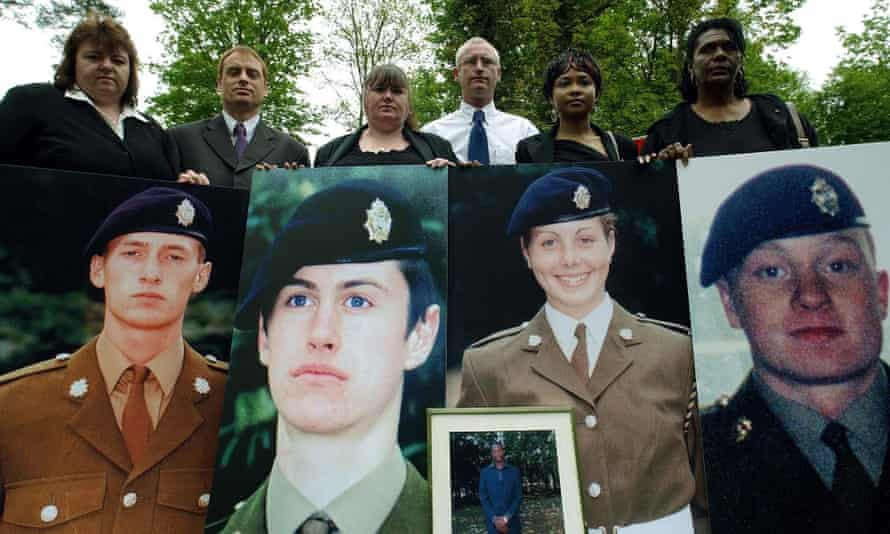 Relatives of the soldiers who died at the controversial Deepcut barracks.