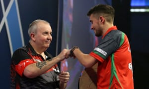Phil Taylor was full of praise for qualifier Jamie Lewis after beating the Welshman 6-1 in the first semi-final.