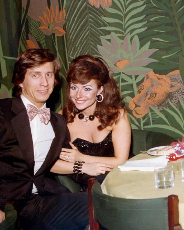 Patrizia Reggiani and Maurizio Gucci in 1972.