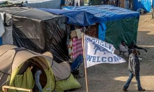 calais new jungle refugee camp france