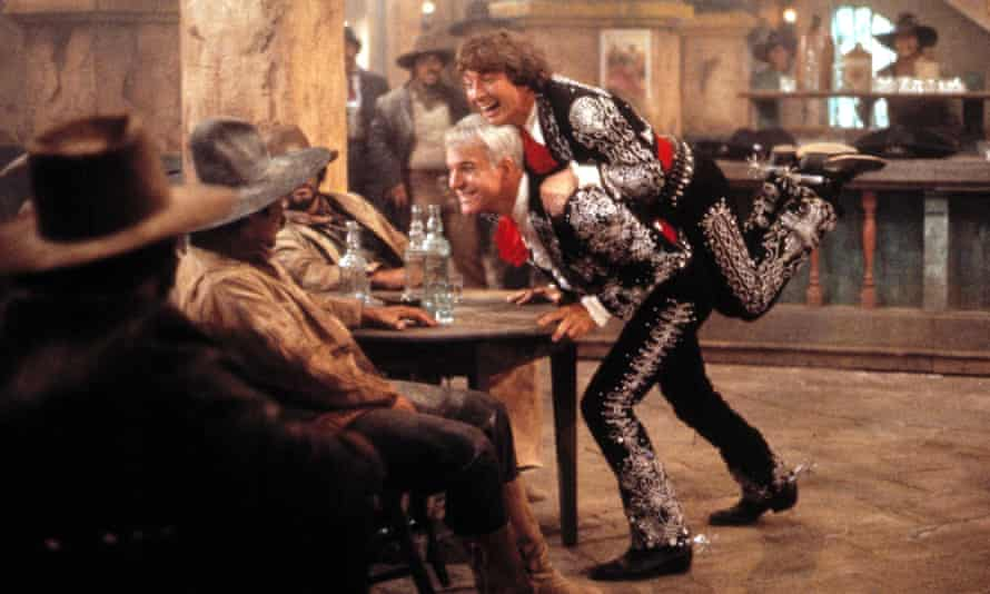 Steve Martin and Martin Short in the Three Amigos, 1986