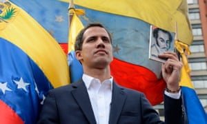 "Venezuela's National Assembly head Juan Guaido declares himself the country's ""acting president""."