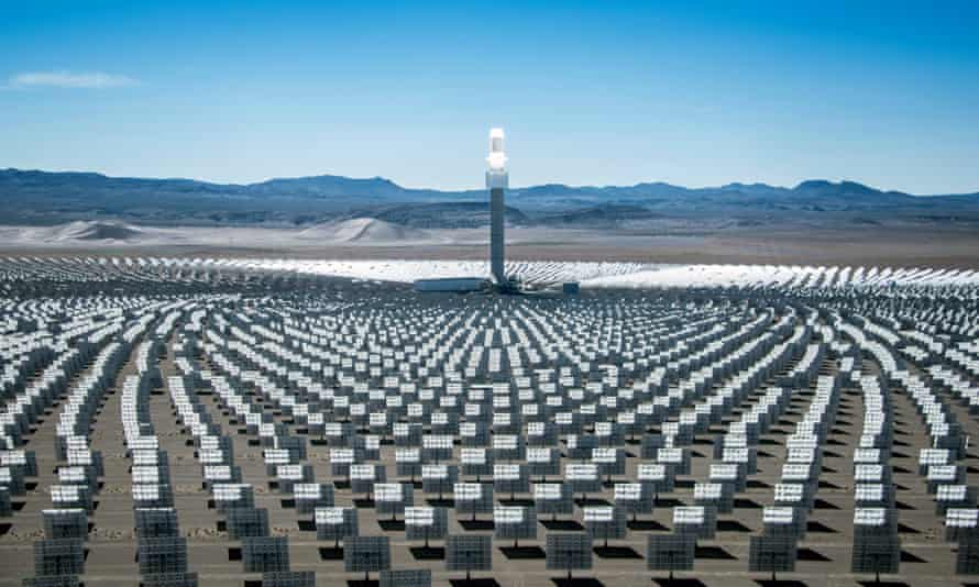 Crescent Dunes solar thermal power project, Nevada