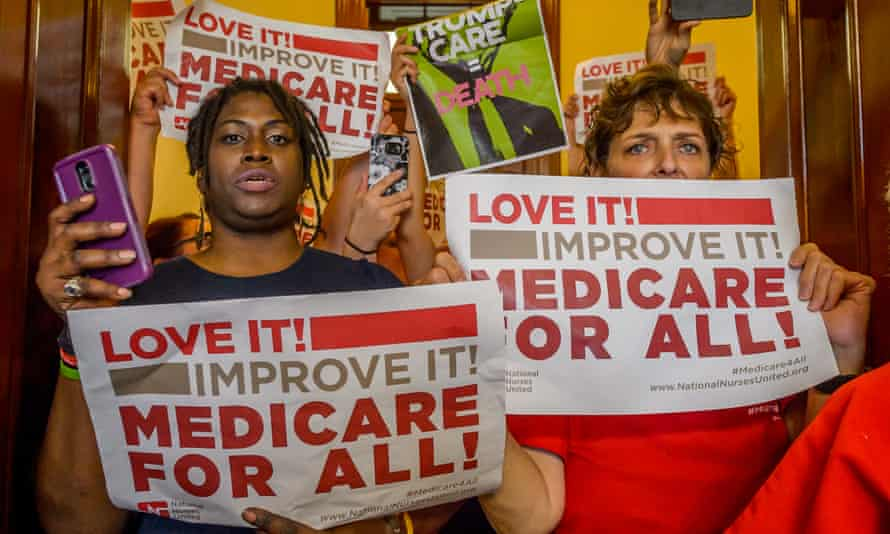 Universal health care has been a long-term goal of the Democratic left.