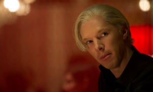 Benedict Cumberbatch as Julian Assange in a scene from the biopic The Fifth Estate.