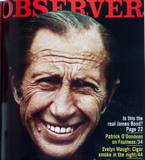 The Observer Magazine cover of 13 May 1973, with a close-up photo of Dusko Popov