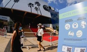Covid-19 precautions at the Cannes film festival.