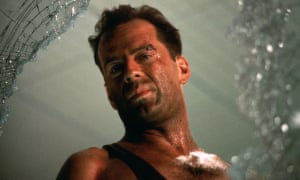 Bruce Willis in Die Hard.