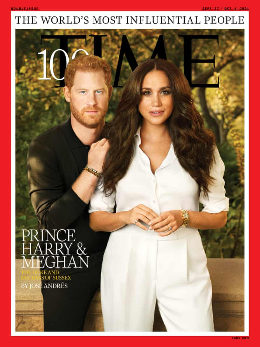 TIME magazine cover featuring Harry and Meghan