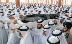The funeral ceremony of Khalid Al Qasimi the youngest son of Sheikh Sultan Bin Muhammad Al Qasimi
