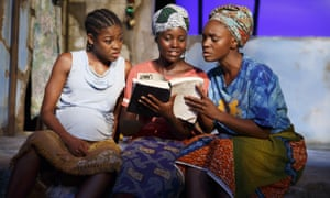 Pascale Armand, Lupita Nyong''o and Saycon Sengbloh in Eclipsed.