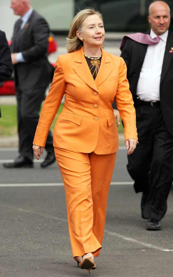 'A tough little termagant in a pantsuit' … making a visit to Australia as US secretary of state in 2010.