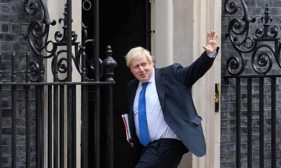 Boris Johnson arrives in Downing Street for a Cabinet meeting