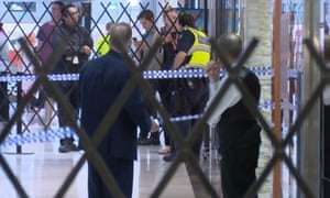 Police where a woman was attacked with an axe at the  Fountain Gate shopping centre in Narre Warren