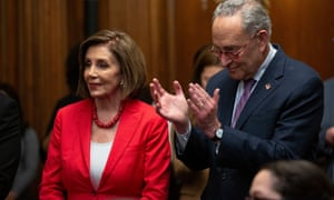 Speaker of the House Nancy Pelosi and Senate minority Leader Chuck Schumer.