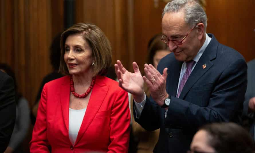 Speaker of the House Nancy Pelosi and Senate minority Leader Chuck Schumer.