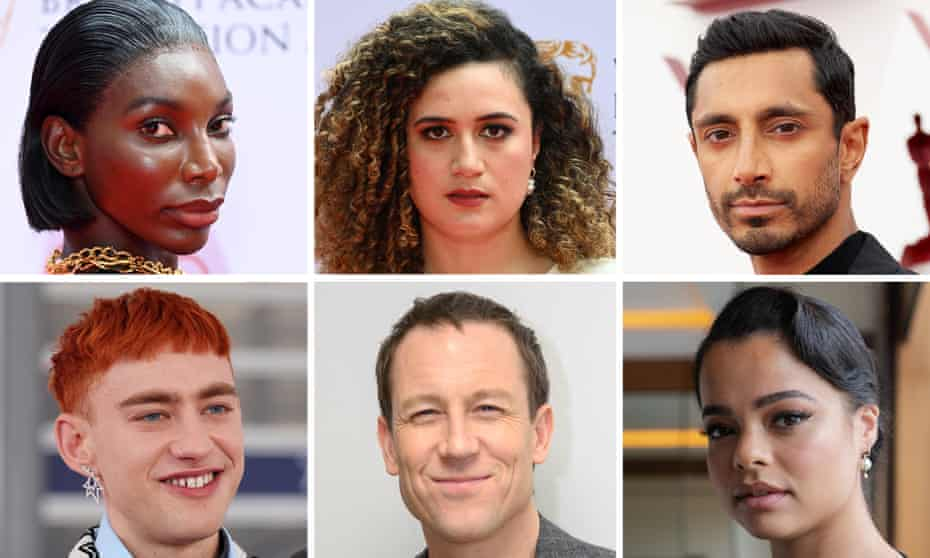 Who will be lucky number 14? ... clockwise from top left; Michaela Coel, Rose Matafeo, Riz Ahmed, Lydia West, Tobias Menzies, Olly Alexander.