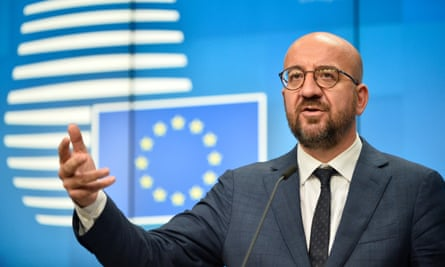 European council president Charles Michel said Belarus' president could be added to the sanctions list later.