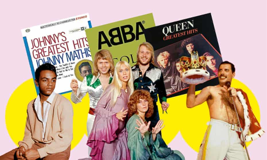Chart breakers ... (from left) Johnny Mathis, Abba and Queen.