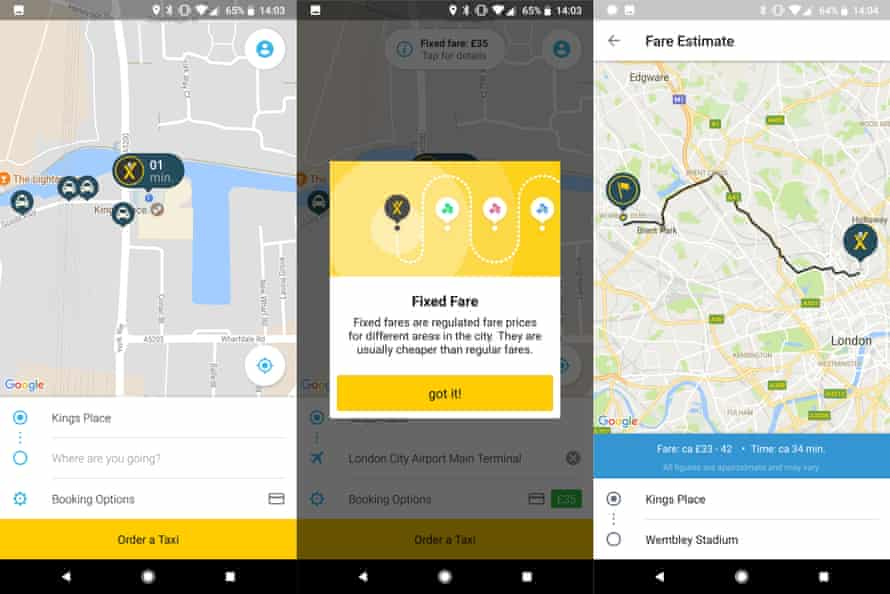 The myTaxi app is like Uber but for black cabs in London.