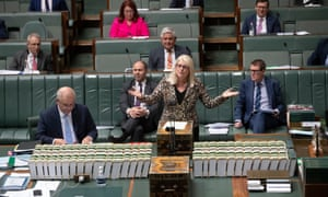 Industry minister Karen Andrews during question time on Wednesday