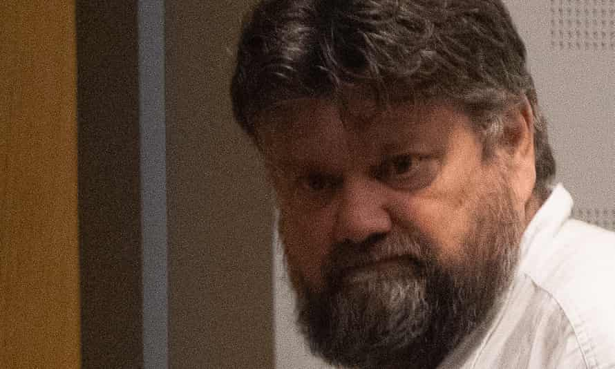 Carl Beech during his extradition hearing in Gothenburg, Sweden, a year ago.