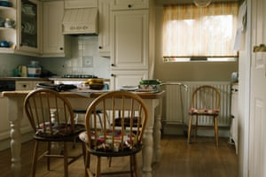 The quiet kitchen. Jonathan's dad died on 13th March, well before lockdown was introduced. © Simon Bray © Simon Bray