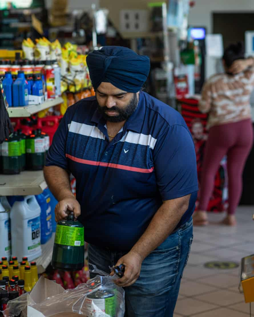 Sukhwinder Singh Sodhi began operating the food mart after just a few days of his father's murder.