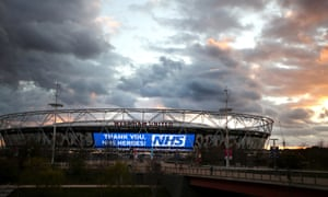 West Ham light up the London Stadium to thank the NHS and other key workers.