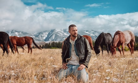 Stylists not in shot … Justin Timberlake's new look.