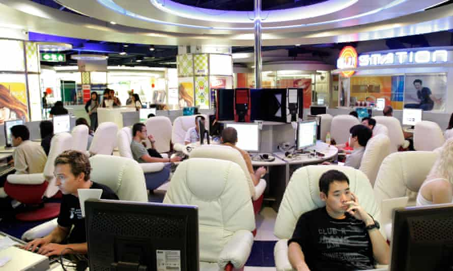 An internet cafe in Bangkok. Owners will be required by law to retain data on customers' browsing history for 90 days.