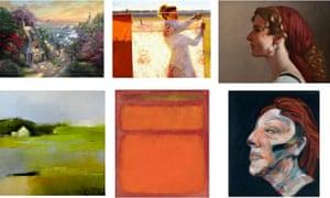 A composite image of artworks