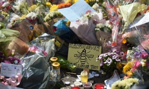 Flowers and tributes to Salman Abedi's victims left in central Manchester following the attack