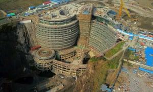The Shanghai hotel takes shape.