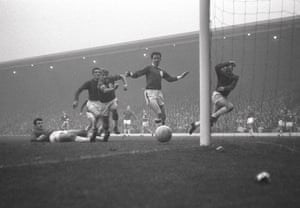 In action at Anfield on 31 October 1964