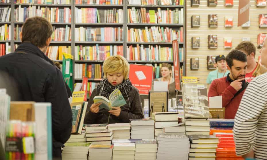 Inside the Strand bookshop, in 2015.