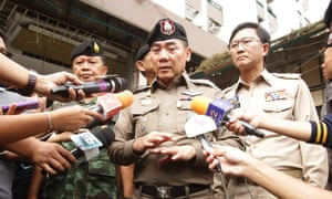 Thai police chief General Chakthip Chaijinda at the scene of a deadly bomb blast in the southern province of Pattani in late August.