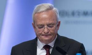 Martin Winterkorn said Volkswagen 'betrayed the trust' of millions of people.
