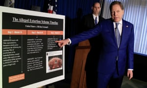 US Attorney for the Southern District of New York Geoffrey Berman explains extortion charges against Michael Avenatti on Monday.